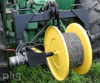 Wire Winder Hydraulic Pto Spooler Roller Pro Tatch Cable